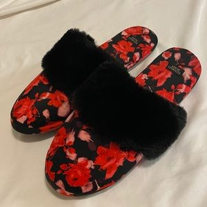 Victoria's Secret Signature Satin Slippers